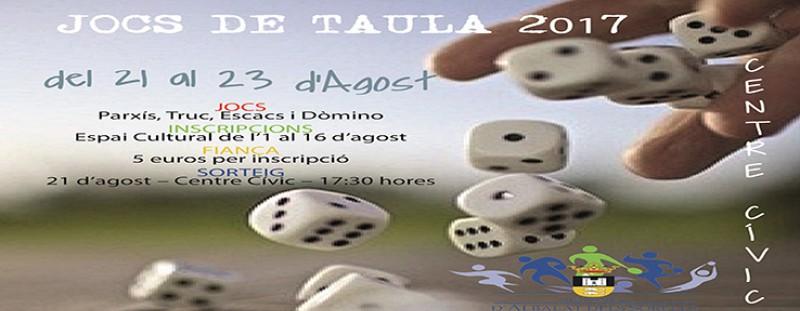 CAMPIONATS DE JOCS DE TAULA (REGIDORIA D'ESPORTS)