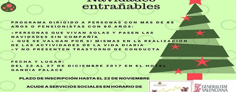 "PROGRAMA ""NAVIDADES ENTRAÑABLES"" (REGIDORIA DE SERVEIS SOCIALS)"